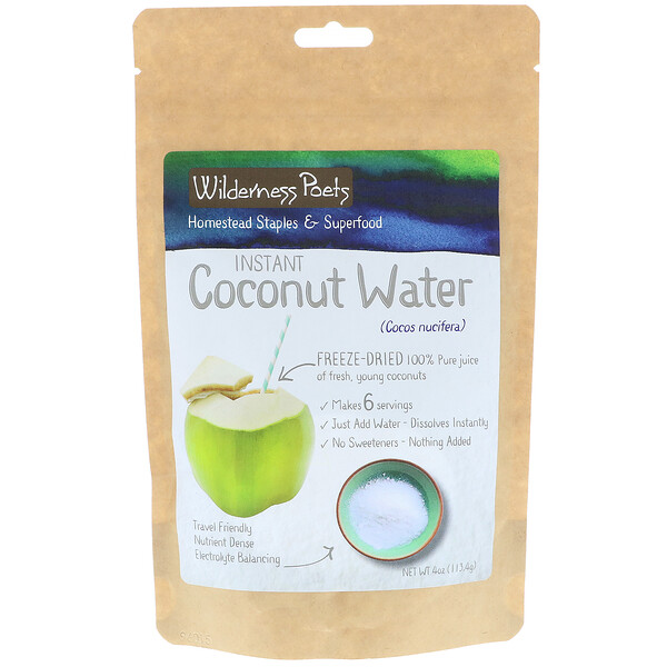 Instant Coconut Water Powder, Freeze Dried, 4 oz (113.4 g)