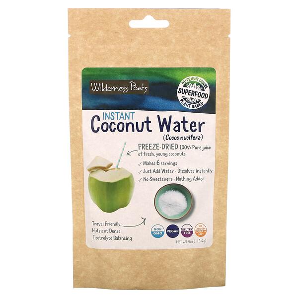 Instant Kokosnuss Wasser-Pulver, gefriergetrocknet, 4 oz (113,4 g)