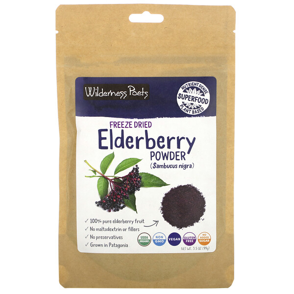 Wilderness Poets, Freeze Dried Elderberry Powder, 3.5 oz (99g)