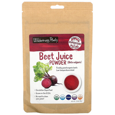 Wilderness Poets Organic Beet Juice Powder, 3.5 oz (99 g)
