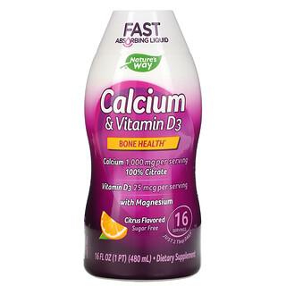 Nature's Way, Calcium & Vitamin D3, Citrus, 16 fl oz (480 ml)