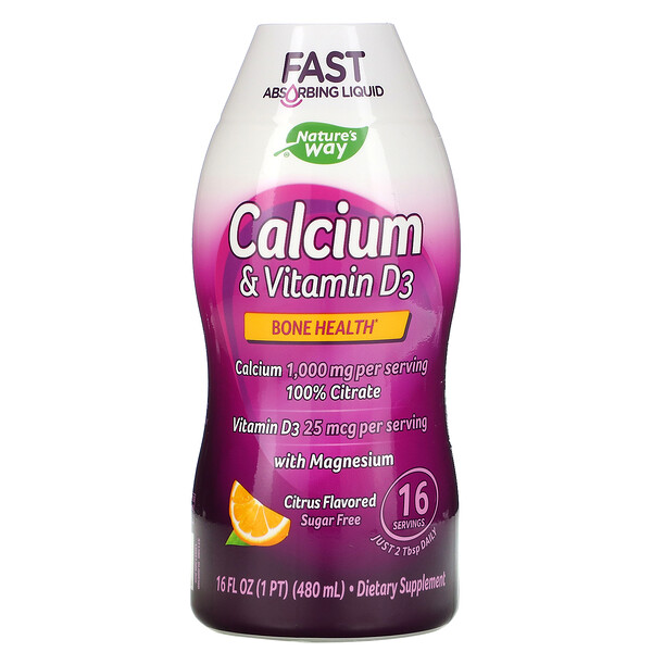 Calcium & Vitamin D3, Citrus, 16 fl oz (480 ml)