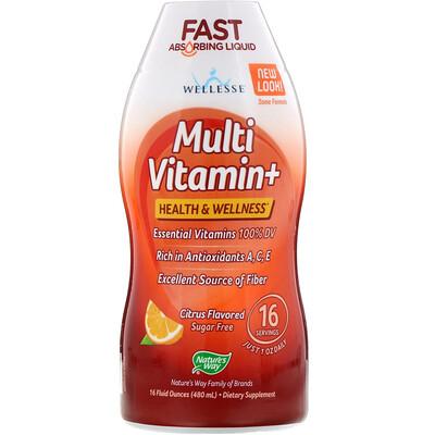 Multi Vitamin+, Sugar Free, Citrus Flavor, 16 fl oz (480 ml)