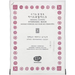 Whamisa, Organic Flowers, Hydrogel Beauty Mask, 1 Sheet