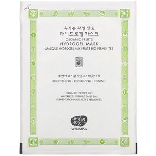 Whamisa, Organic Fruits, Hydrogel Beauty Mask, 1 Sheet