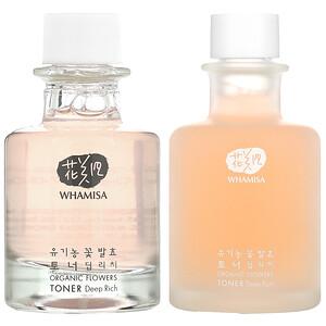 Whamisa, 有機花卉提取深濃爽膚水,2 件套'
