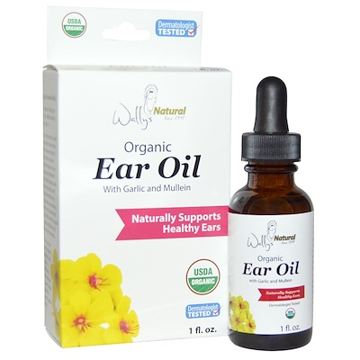 Купить Органическое масло для ушей с маслом чеснока и коровяка, 1 жидкая унция