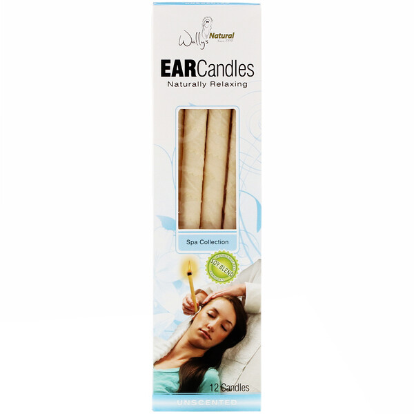Ear Candles, Unscented, 12 Candles