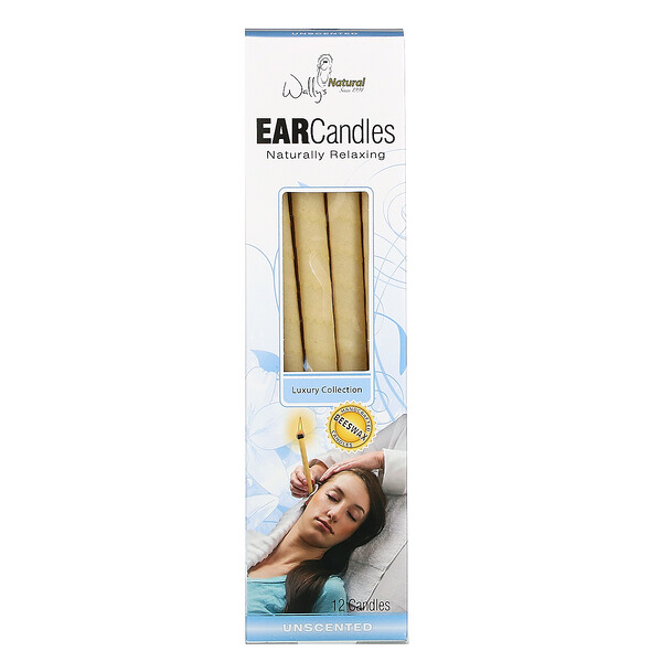 Beeswax Ear Candles, Luxury Collection, Unscented, 12 Candles