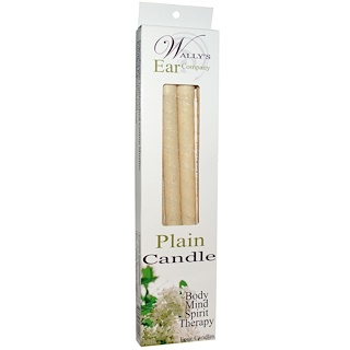 Wally's Natural, Plain Candle, 4 Candles