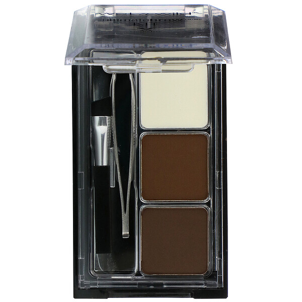 Ultimate Brow Set, Dark Brown, 0.09 oz (2.5 g)