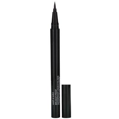Купить Wet n Wild Breakup Proof Waterproof Liquid Eyeliner, Ultra Black, 0.03 fl oz (0.9 ml)