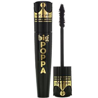 Wet n Wild, Big Poppa Mascara, Blackest Black, 0.33 fl oz (10 ml)