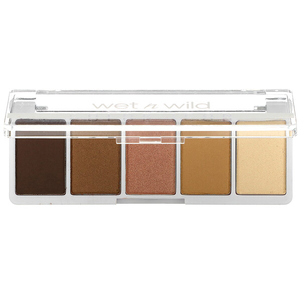 Color Icon, 5-Pan Shadow Palette, Walking On Eggshells, 0.21 oz (6 g)