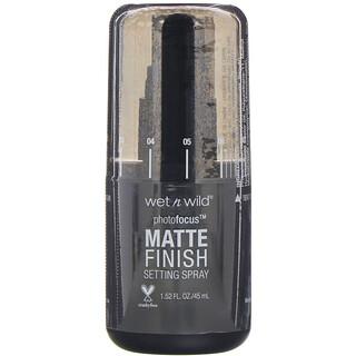 Wet n Wild, PhotoFocus, Matte Finish Setting Spray, Matte Appeal, 1.52 fl oz (45 ml)