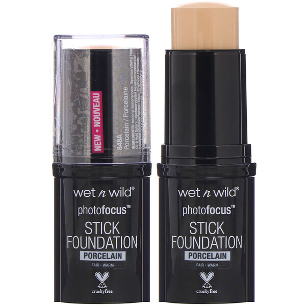 Wet n Wild, PhotoFocus Stick Foundation, Porcelain, 0.42 oz (12 g)