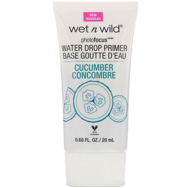 Wet n Wild, PhotoFocus, Water Drop Primer, Cucumber, 0.68 fl oz (20 ml) (Discontinued Item)