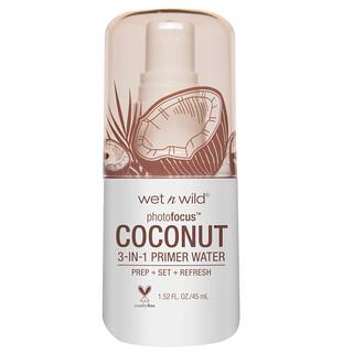 Wet n Wild, PhotoFocus 3-in-1 Primer Water, In Love With Coco, 1.52 fl oz (45 ml)