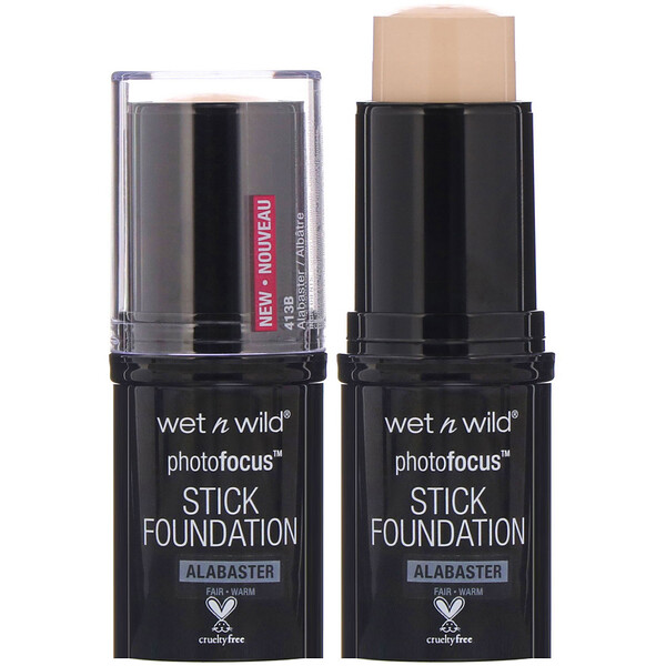 Wet n Wild, PhotoFocus Stick Foundation, Alabaster, 0.42 oz (12 g)