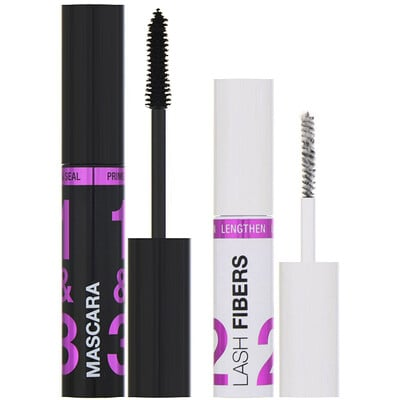 Купить Wet n Wild Тушь для ресниц Lash-O-Matic Mascara + комплект с фиброй для удлинения ресниц Fiber Extension Kit, отенок Very Black, 11мл