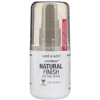 Wet n Wild, PhotoFocus Natural Finish Setting Spray, Seal the Deal, 1.52 fl oz (45 ml)