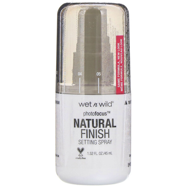 Wet n Wild, PhotoFocus Natural Finish Setting Spray, Seal the Deal, 1.52 fl oz (45 ml)