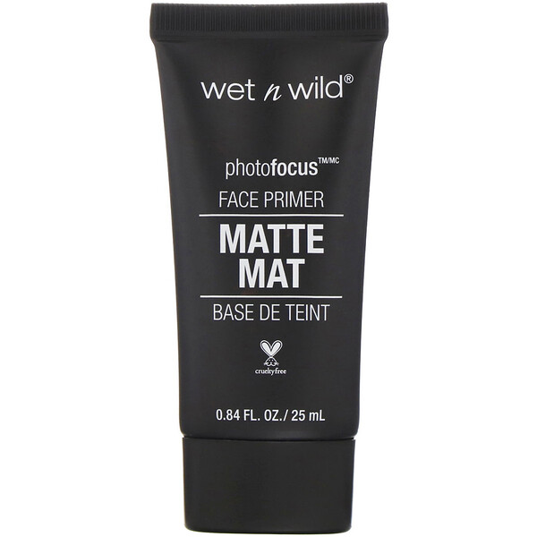 Wet n Wild, PhotoFocus, Matte Face Primer, Partners in Prime, 0.84 fl oz (25 ml) (Discontinued Item)