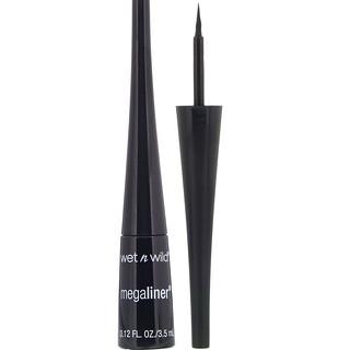 Wet n Wild, MegaLiner Liquid Eyeliner, Black, 0.12 fl oz (3.5 ml)