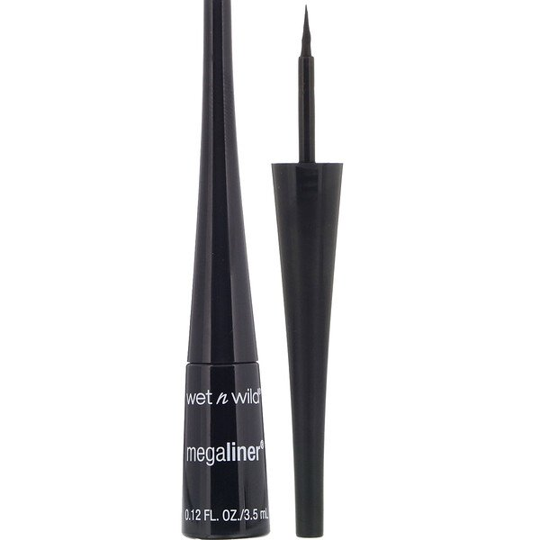 Wet n Wild, MegaLiner Liquid Eyeliner, Black, 0.12 fl oz (3.5 ml)