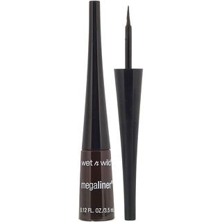 Wet n Wild, MegaLiner Liquid Eyeliner, Dark Brown, 0.12 fl oz (3.5 ml)