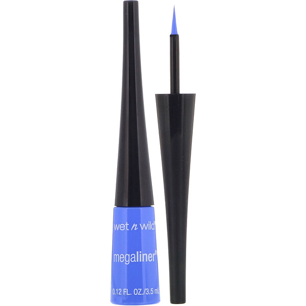 Wet n Wild, Delineador líquido MegaLiner, azul eléctrico, 3,5ml (0,12oz.liq.)