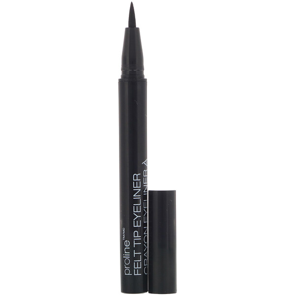 ProLine 毛氈尖眼線筆,黑色,0.017 盎司(0.5 克)