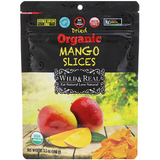 Nature's Wild Organic, Wild & Real, Dried, Organic Mango Slices, 3.5 oz (100 g)
