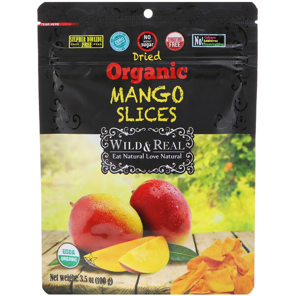 Wild & Real, Dried, Organic Mango Slices, 3.5 oz (100 g)
