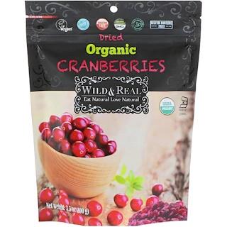 Nature's Wild Organic, Wild & Real, Dried, Organic Cranberries, 3.5 oz (100 g)