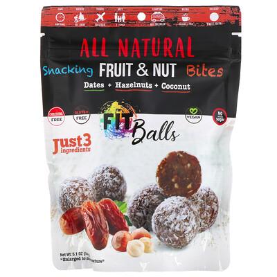 Купить Nature's Wild Organic All Natural, закуска из фруктов и орехов, фит-шарики, финики + фундук + кокос, 5, 1 унции (144 г)