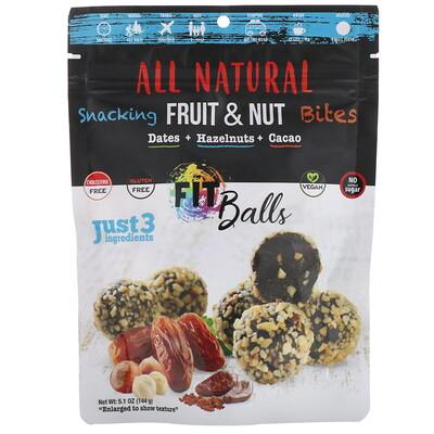 Купить Nature's Wild Organic All Natural, закуски из фруктов и орехов, фит-шарики, финики + лесные орехи + какао, 5, 1 унции (144 г)