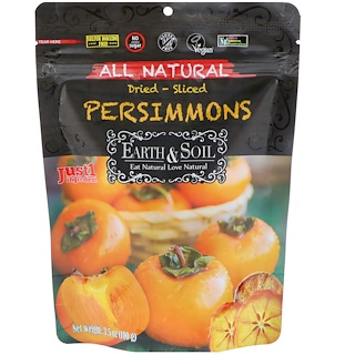 Nature's Wild Organic , Earth & Soil, All Natural, Dried-Sliced Persimmons, 3.5 oz (100 g)