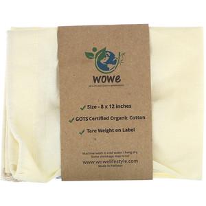 Wowe, Certified Organic Cotton Muslin Bag, 1 Bag, 8 in x 12 in отзывы покупателей