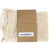 Wowe, Certified Organic Cotton Mesh Bag, Netzbeutel aus zertifizierter Bio-Baumwolle, 1 Beutel, 8 in x 12 in
