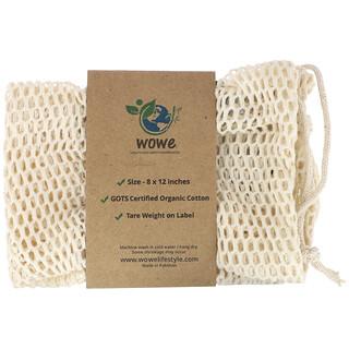 Wowe, Certified Organic Cotton Mesh Bag, 1 Bag, 8 in x 12 in