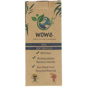 Wowe, Natural Bamboo Toothbrush, Kids, Soft Bristles, 4 Pack отзывы покупателей