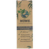 Wowe, Natural Bamboo Toothbrush, Charcoal Infused Soft Bristles, 4 Pack