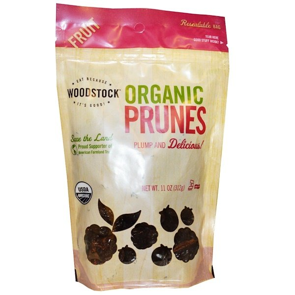 Woodstock, Organic Prunes, Pitted, 11 oz (312 g) (Discontinued Item)