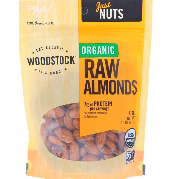 Woodstock, Organic Raw Almonds, 7.5 oz (213 g) (Discontinued Item)