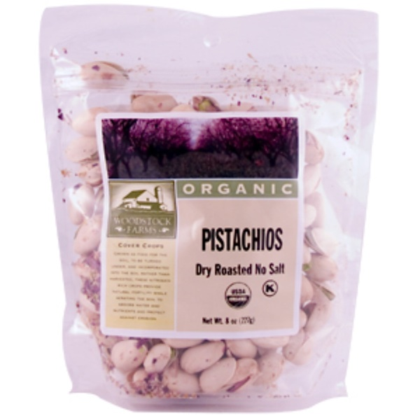 Woodstock, Organic Pistachios, Dry Roasted, No Salt, 8 oz (227 g) (Discontinued Item)