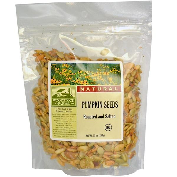 Woodstock, Pumpkin Seeds, 10 oz (284 g) (Discontinued Item)