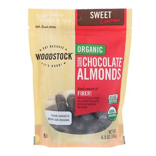 Woodstock, Organic, Dark Chocolate Almonds, 6.5 oz (184 g)