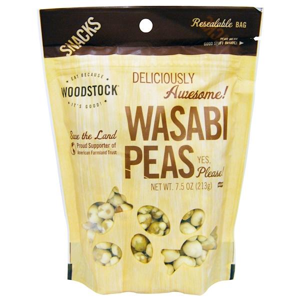 Woodstock, Wasabi Peas, 7.5 oz (213 g) (Discontinued Item)