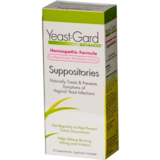 Women, Lake Consumer Products, Yeast Gard Advanced, 10 вагинальных суппозиториев
